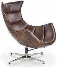 SO INSIDE Fauteuil design pivotant style cuir