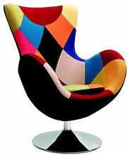 SO INSIDE Fauteuil oeuf patchwork multicolore