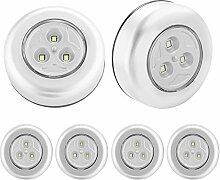SOAIY Veilleuses Lampe LED 6pcs Lampe Spot LED