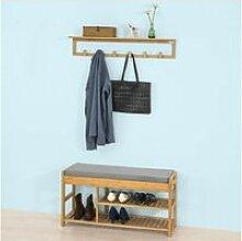 Sobuy® fsr47-n+fhk06-n ensemble de meuble