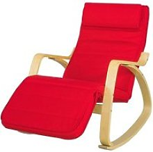 Sobuy fst16-r fauteuil à bascule fauteuil
