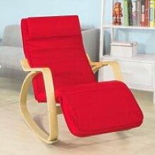 SoBuy® FST16-R Rocking Chair, Fauteuil à bascule