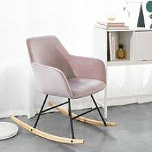 SoBuy® FST68-P Chaise à Bascule avec Accoudoirs,