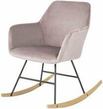 Sobuy® fst68-p chaise à bascule avec accoudoirs