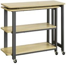 Sobuy fwt83-n table d'appoint rotative, bout