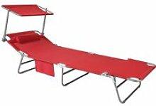 Sobuy ogs48-r chaise longue bain de soleil transat