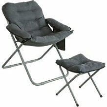 Sobuy ogs55-hg fauteuil de jardin chaise de jardin