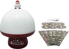 SoeHong Veilleuse de Noël à LED avec projecteur