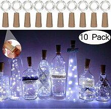 SOEKAVIA 10 pièces bouteille lumière 20 LED