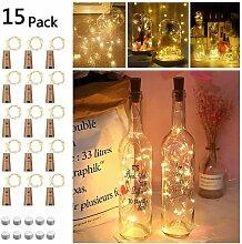 SOEKAVIA 15 pièces 20LED bouteille lumière,