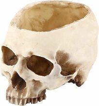 SOEKAVIA Résine Halloween tête de crâne fleurs