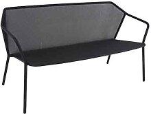 Sofa 2 places DARWIN de Emu, Noir