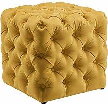 Sofa stool Tabouret bas carré confortable en daim