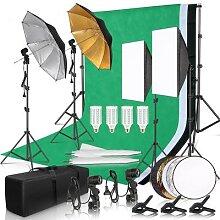 Softbox éclairage de studio photo, kit avec cadre