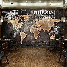 Soie Papier Peint Photo Mural 3D Rétro Carte Du