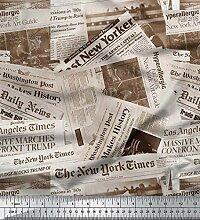 Soimoi 58 Pouces De Large Journal Coton Imprimé