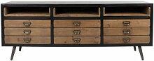 SOL - Buffet vintage en bois et acier