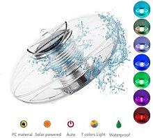 Solaire alimenté 7 couleurs LED eau lampe