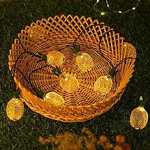 Solaire en fer forgé ananas chaîne créative