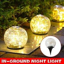 Solaire LED Boule De Verre Jardin Pelouse Lampe de
