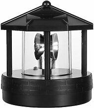 Solaire LED Phare Rotatif Lumière Jardin Cour