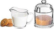 Solavia Pot à lait et sucrier en verre