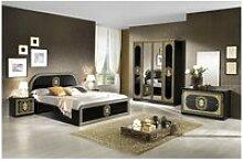 Solaya noire - chambre complète 160x200cm