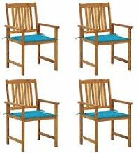 Soldes ®5749Lot de 4 Chaises de jardin Chaises de