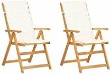 Soldes ®6100Lot de 2 Chaises inclinables de
