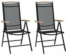 Soldes ®7783Lot de 2 Chaises pliables de jardin