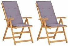 Soldes ®9280Lot de 2 Chaises inclinables de