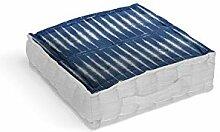 Soleil d'ocre Azur Coussin tapissier, Coton,