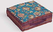 Soleil d'ocre Jaipur Coussin tapissier, Coton,