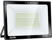 SOLLA Projecteur LED 200W, IP66 Imperméable,
