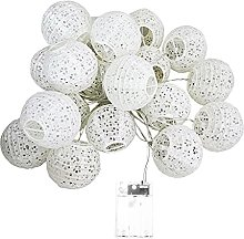 soloplay Lampion Papier Blanc, Guirlande Exterieur