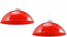 SOLUSTRE 2 Pièces Rouge Plafond Abat-Jour Lustre
