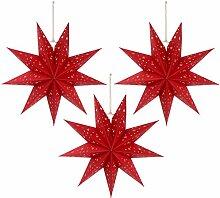 SOLUSTRE 3Pcs Arbre de Noël Suspendu Étoile
