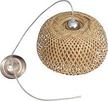 SOLUSTRE Bambou Lanterne Pendentif Lampe Rétro