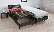 Sommier relaxation électrique : 70x190 cm / 2 -