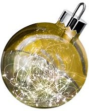 Sompex Boule lumineuse, 20 cm - Coloris Or