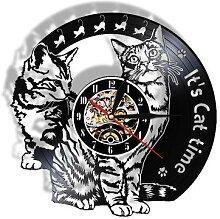 Son horloge murale en vinyle pour chat, image de