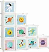 SONGMICS Armoire Modulable Enfant 10 Cubes,