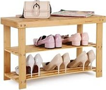 Songmics® Étagère à chaussures, 100% bambou
