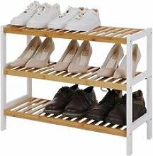 SONGMICS® Étagère à chaussures de 3 niveaux -