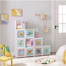 Songmics meuble de rangement enfant 10 cubes,