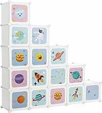 SONGMICS Meuble de Rangement Enfant 15 Cubes,