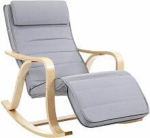 Songmics - Rocking Chair, Fauteuil à Bascule,