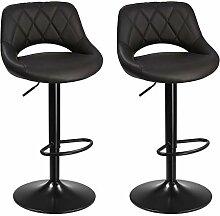 SONGMICS Tabouret de Bar - Lot de 2 chaises de
