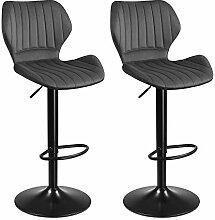 SONGMICS Tabourets de Bar, Lot de 2 chaises Haute,