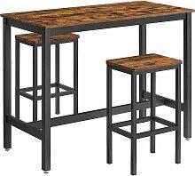 Songmics - VASAGLE Lot Table et Chaises de Bar,